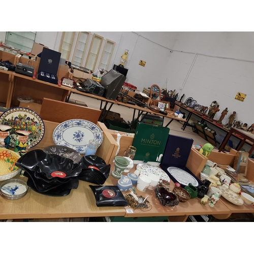 22 - Miscellaneous items including glass,china etc. including Royal Worcester plate, Wedgwood, Aynsley et...