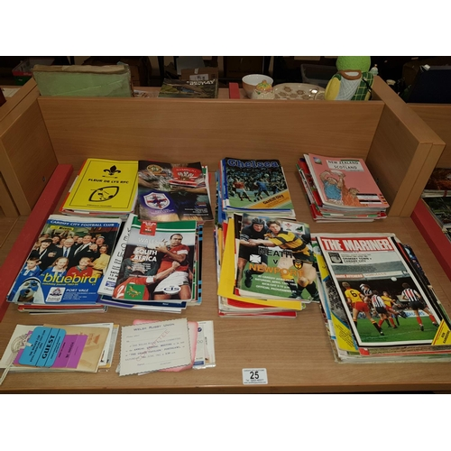 25 - Collection of football and rugby programmes...