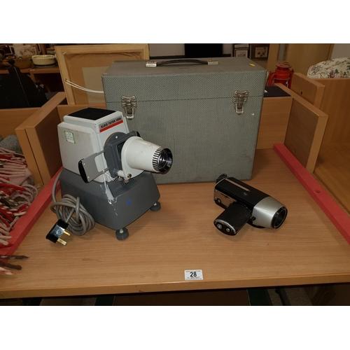 28 - Vintage Aldis projector and camera...