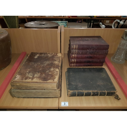 3 - Welsh bibles and set of 5 The War Illustrated Books...