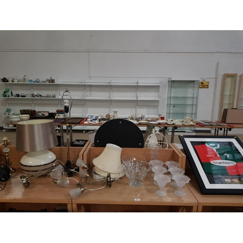 31 - Collection of lamps and crystal/glassware etc....