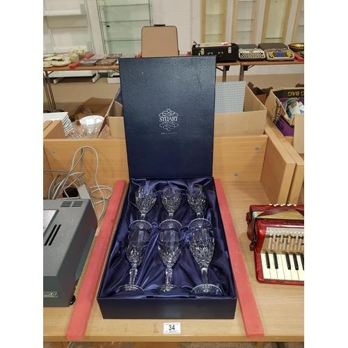 34 - Stuart crystal glass set...