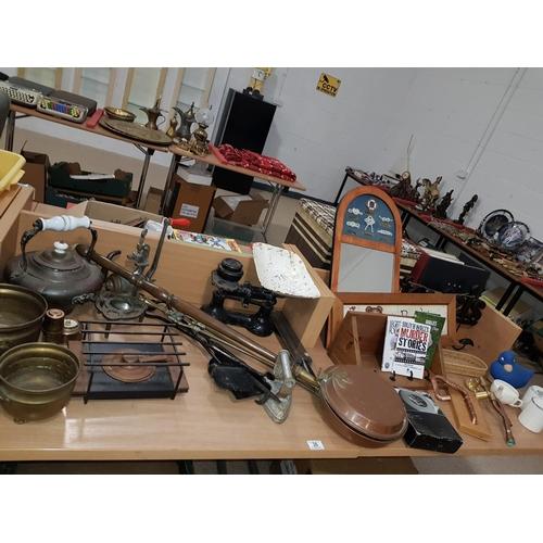 36 - Quantity of metalware/treen items etc....