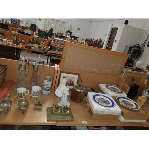 4 - Quantity of china and glassware including Coalport ' Millenium Celebration' lady figurine...