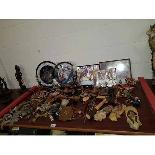 41 - Collection of American Indian items including dreamcatchers etc....