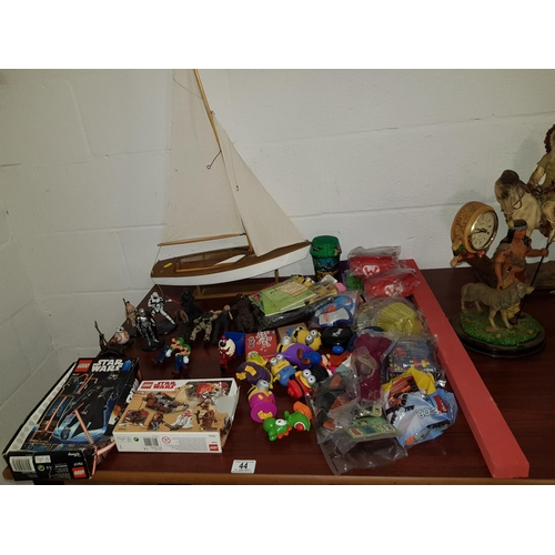 44 - Collection of children's toys, sailing boat , Lego etc....