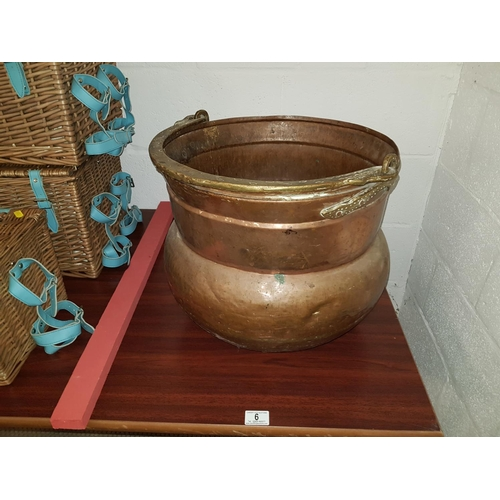6 - Large copper pot...