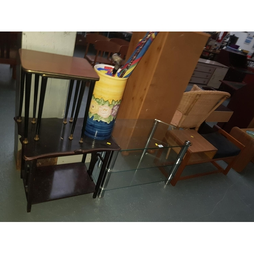 534 - Quantity of small furniture including telephone stool, glass TV unit etc....