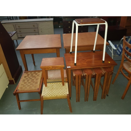 536 - Quantity of small foot stools and nest of tables etc....