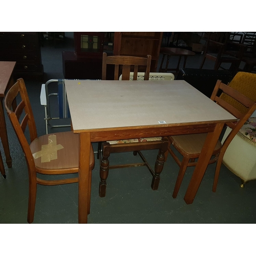 537 - Wooden table with 3 chairs...