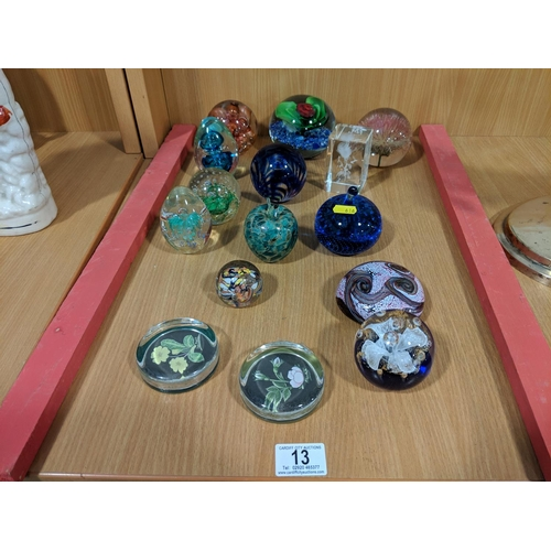 13 - Quantity of paperweights...