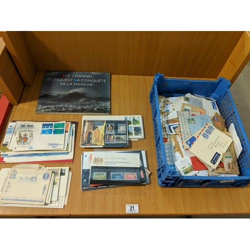 21 - Quantity of first day covers, loose stamps etc....