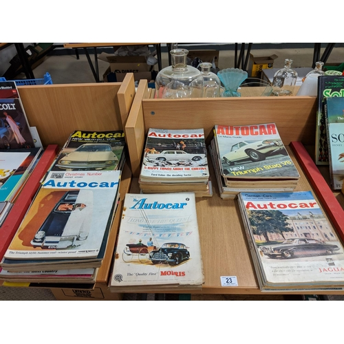 23 - Collection of vintage car magazines...