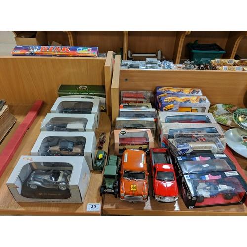 30 - A quantity of model collectors cars...