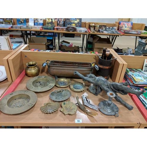 56 - Quantity of metalware...