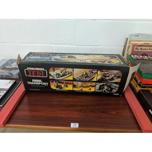 11 - Vintage Star Wars - rebel transporter - boxed...