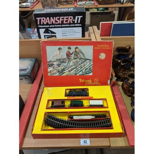 42 - Tri- ang railway set -boxed...