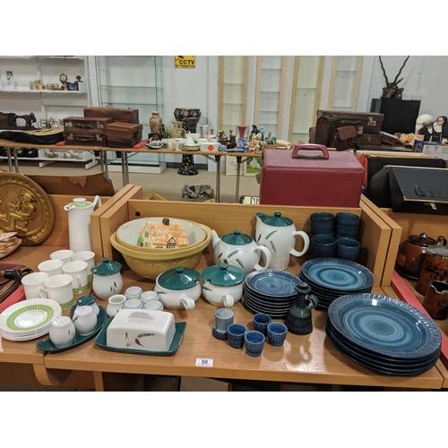 50 - Quantity of retro china including Denby Greenwheat...