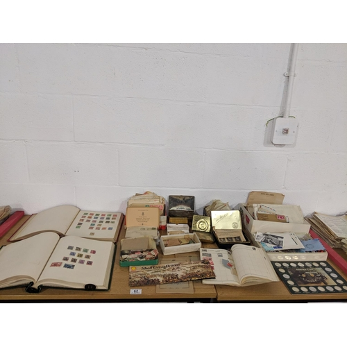 62 - A quantity of mixed stamps, some mounted,some loose etc....