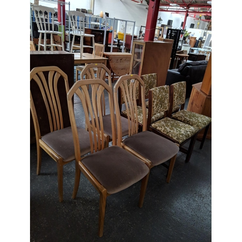 532 - 2 sets of four dining chairs...