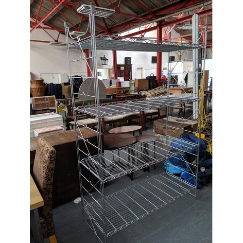 539 - Metal shelving unit...
