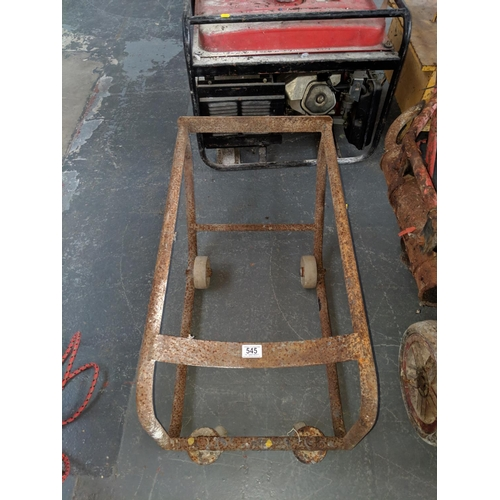 545 - 44 GAL drum trolley...