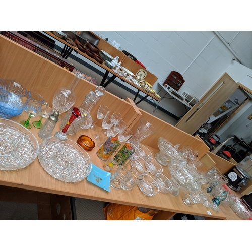 19 - A quantity of crystal , glass and other glassware etc....