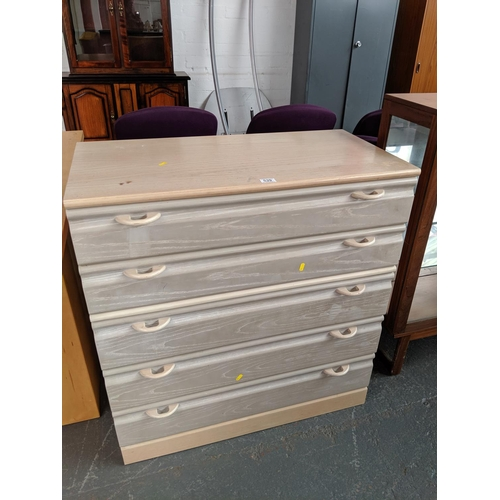 539 - A five drawer chest of drawers...
