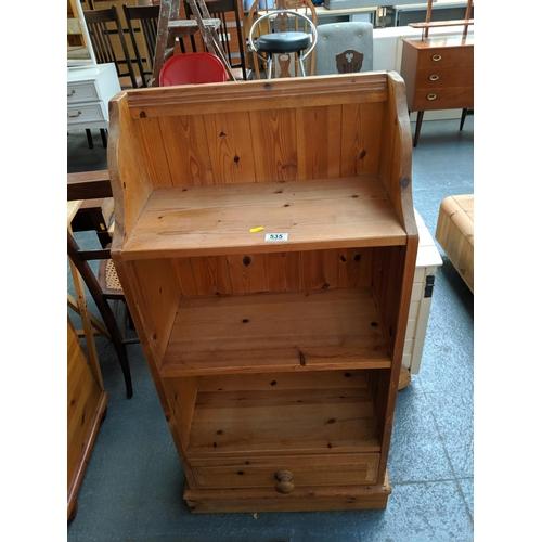 535 - A pine bookcase...