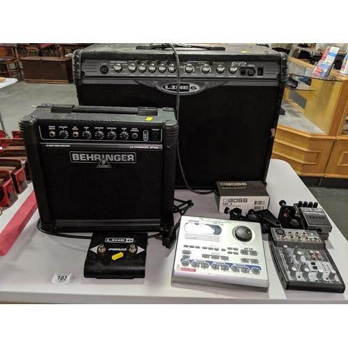 103 - A Behringer amp, Boss Dr Rhythm DR-3 etc....