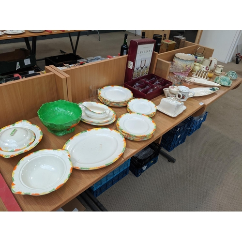 30 - Mixed glass and china including carltonware etc....