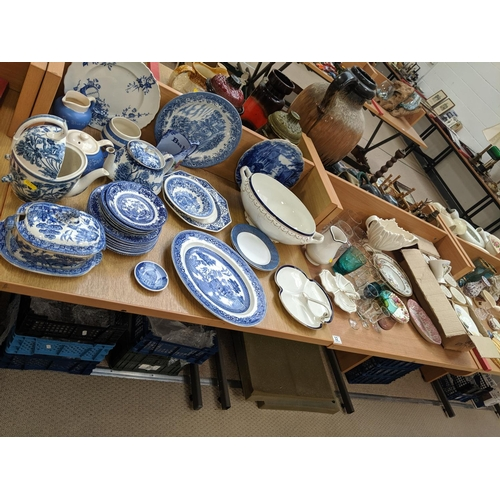 32 - Mixed glass and china including old willow, Leonardo etc....