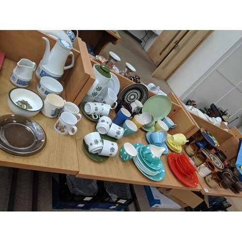 36 - Mixed retro china including Gaydon, Sadler etc....