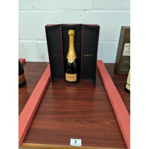 8 - A boxed bottle of Krug- grand cuvee- brut champagne...