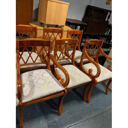 734 - Six dining chairs...