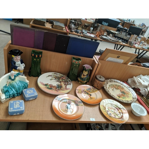 1 - Mixed glass and china including Royal Doulton chargers etc....