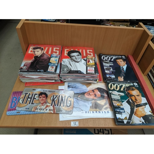 12 - A large quantity of Elvis official collectors edition magazines with artefacts inside and two ' Elvi...