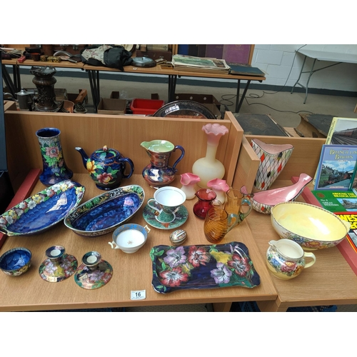 16 - Mixed glass and china including Maling, Limoges etc....