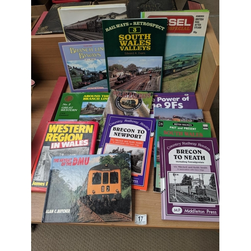 17 - A number of railway books; mainly South Wales...