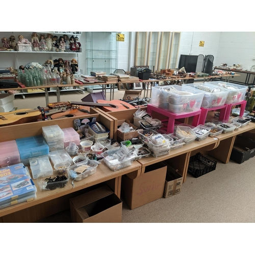27 - A large quantity of jewellery fixings, beads etc....