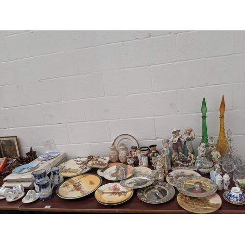 4 - Mixed glass and china including Royal Doulton...