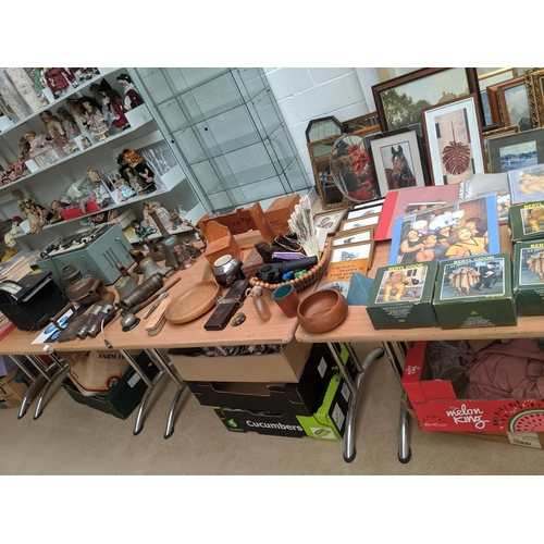 43 - An osiliscope, Kelvin and Hughes electric controller, brass school bell, wooden items etc....