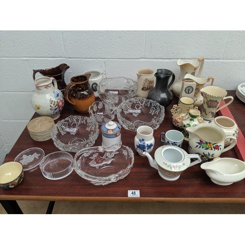 48 - A quantity of mixed glass and china...