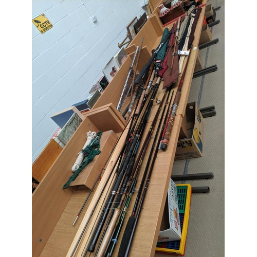 6 - A selection of fishing rods including Hardy, Daiwa, Abu etc....
