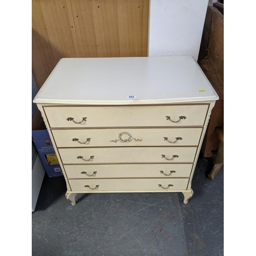 682 - A five drawer chest of drawers...