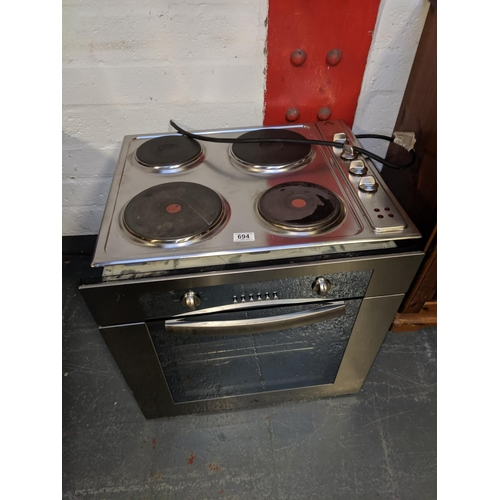 694 - An Aztec electric oven and hob...