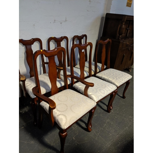698 - A set of six mahogany dining chairs...