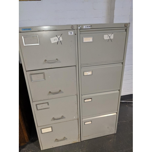 700 - Two metal filing cabinets...