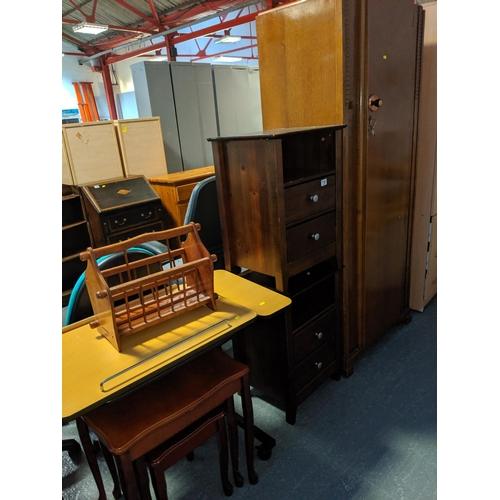 714 - Office trolley,bedside cbainets, wardrobe etc....
