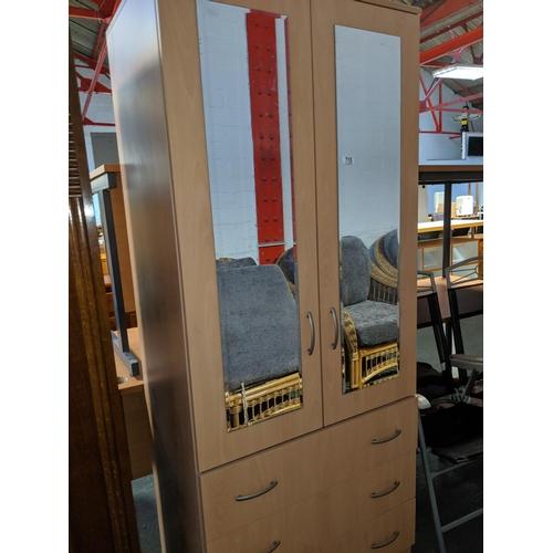 715 - A modern 2 door wardrobe...